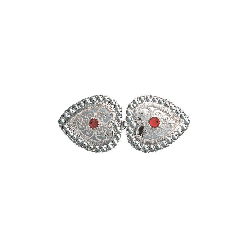 003407 - Capespenne. Kvit med raud stein
