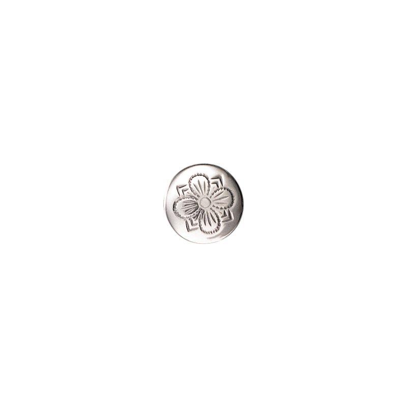 087113 - Knapp 19 mm med lang hempe, oksidert