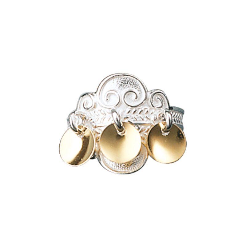317502 - Ring, kvit/forgylt
