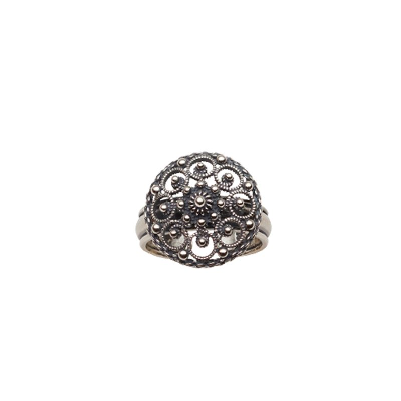 345100 - Ring, oksidert