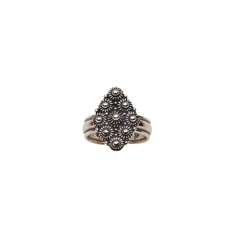 370100 - Ring med kruser, oksidert