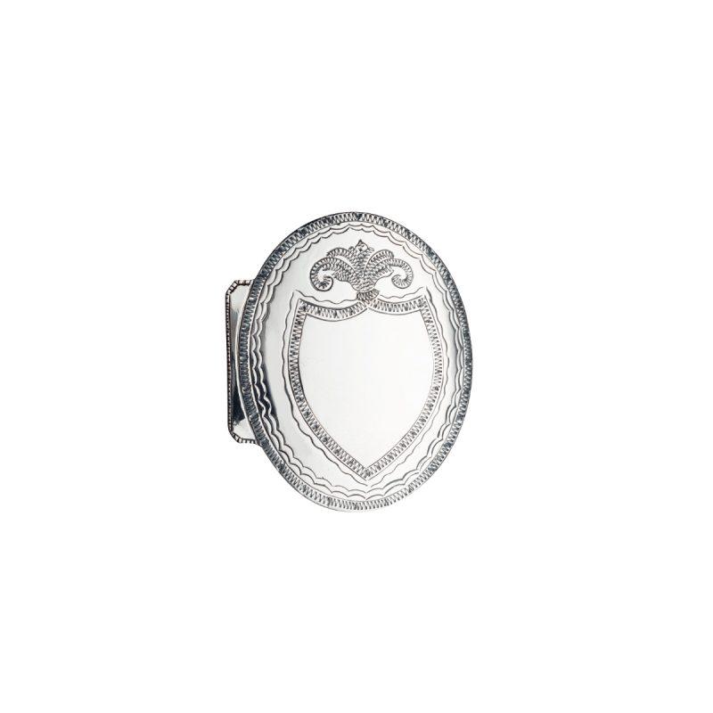 554010 - Nordmøre monogram beltespenne, oksidert