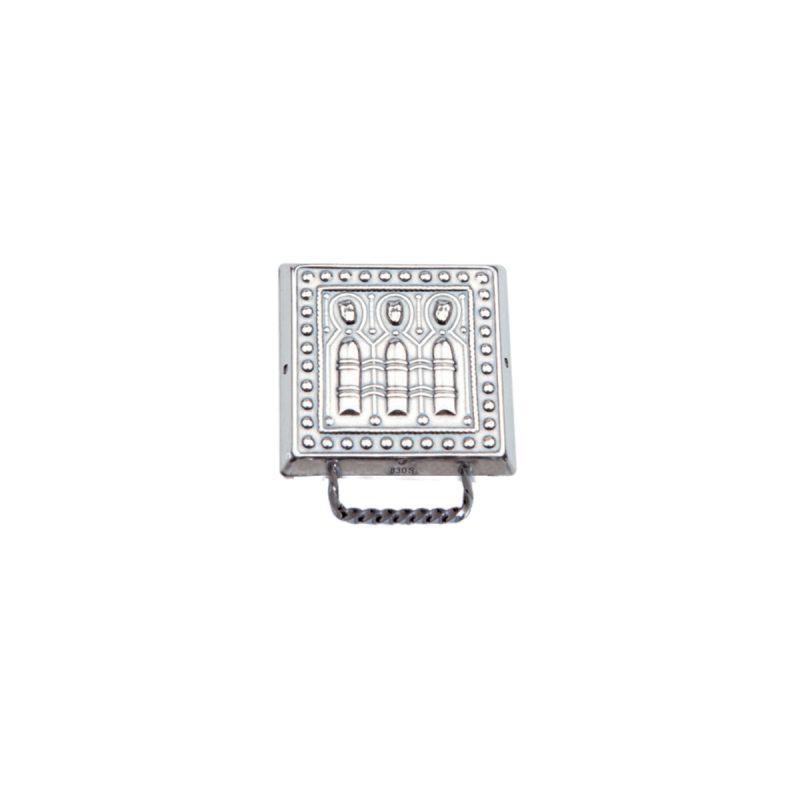 554023 - Veskestøl liten med kort hempe, oksidert