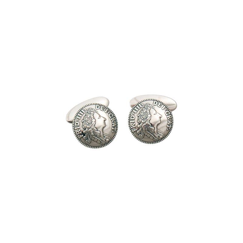 770100 - Mansjettknappar mynt, oksidert