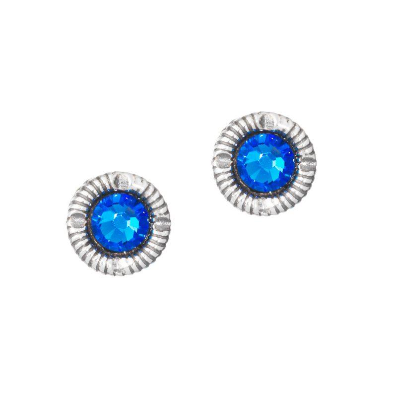 HUL 20026-2 - Små øyrepynt til Jubileumsdrakten, blå stein