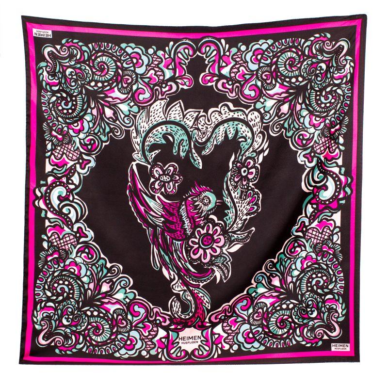 HH - Heimen Husfliden silkeskjerf rosa