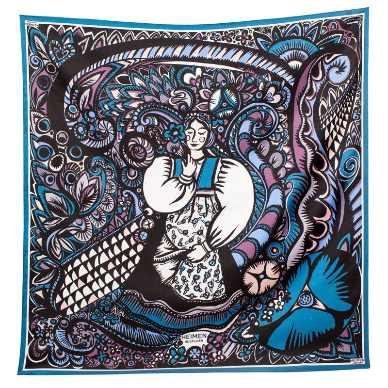 HH - Heimen Husfliden silkeskjerf blå