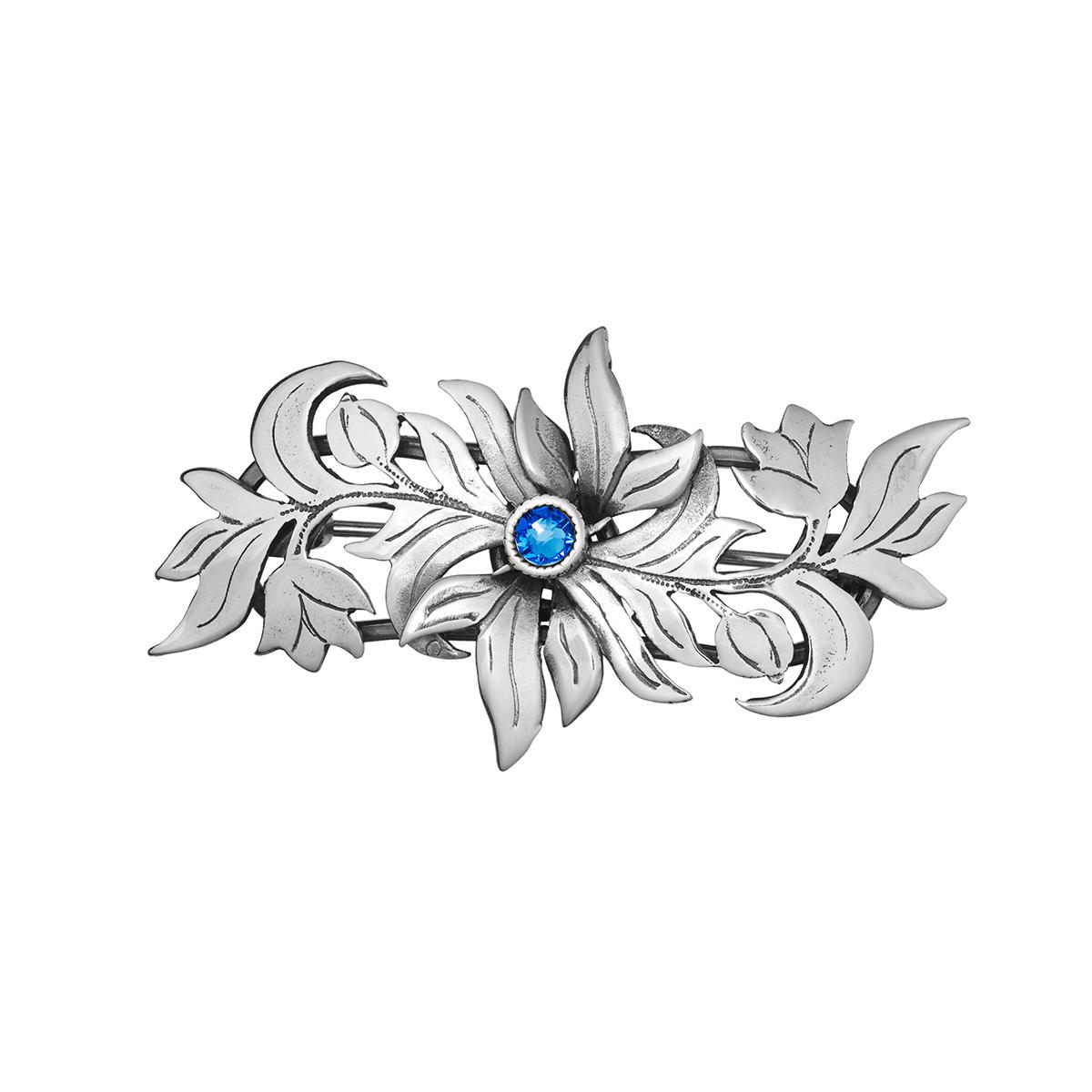 20016-2 - Barnebrosje Flora til Jubileumsdrakten, blå