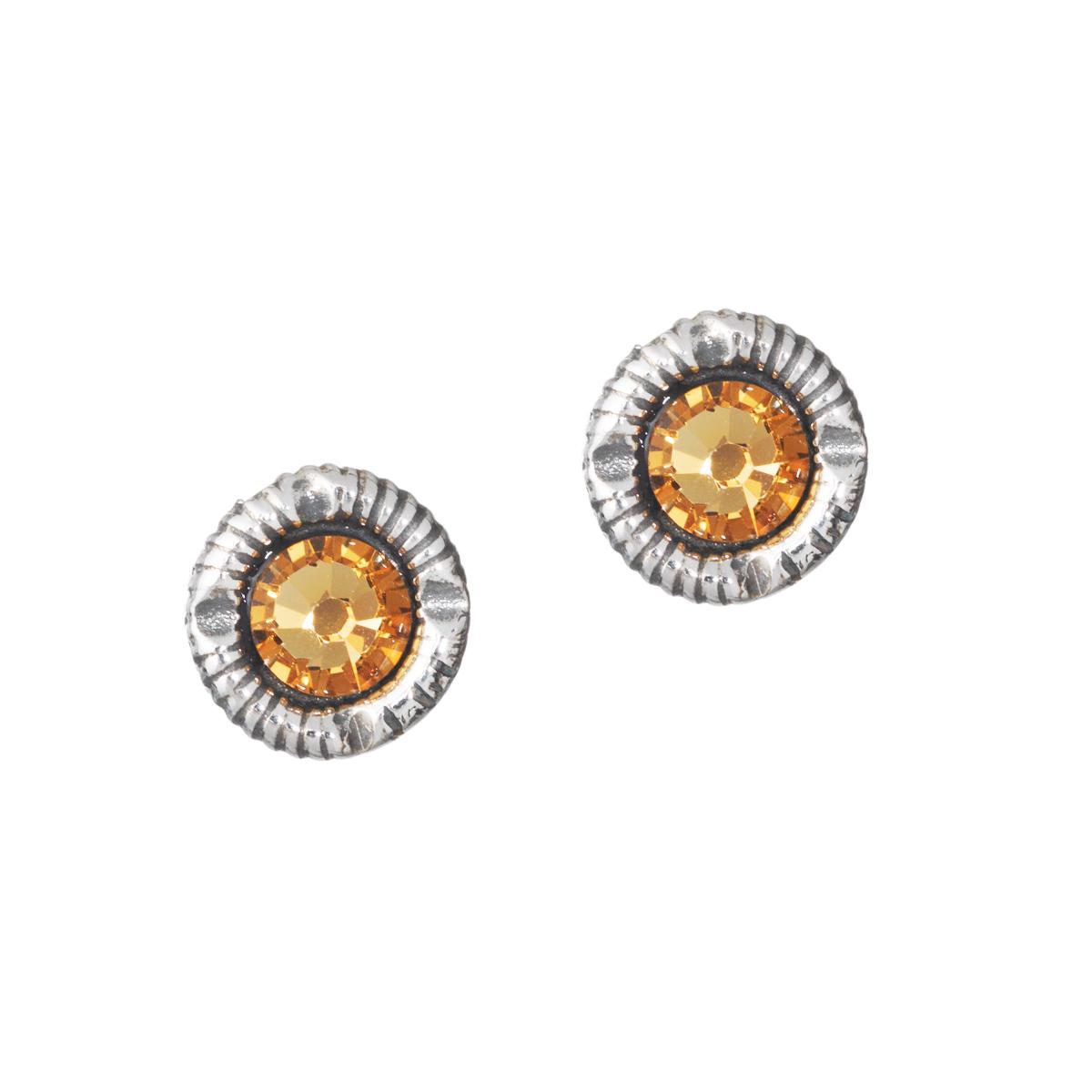 HUL 20026-3 - Små øyrepynt til Jubileumsdrakten, gyllen stein